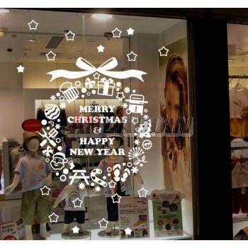 100 * 60cm glass Christmas stickers