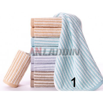 10pcs satin striped towels