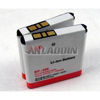 1150mAh mobile phone battery for Nokia N73 N93 3250