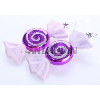 15cm 2pcs plated Christmas candy pendant