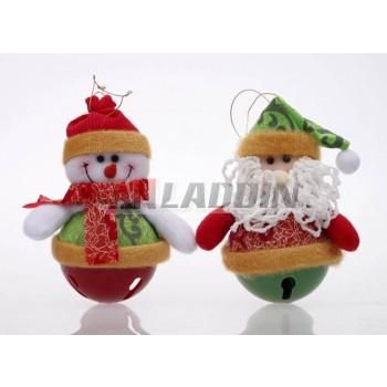 15cm Santa Claus bell pendant