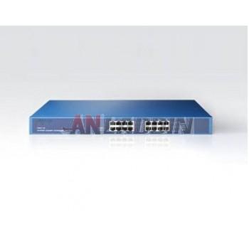 16-port Gigabit Ethernet Network Switch / steel rack