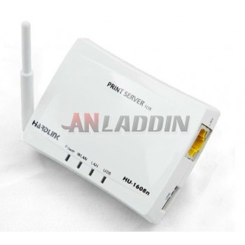 1608N wireless usb port print server for mac