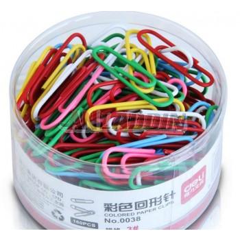 160pcs multi-colored paper clips