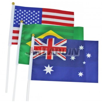 20 * 28cm Mini handheld national flag