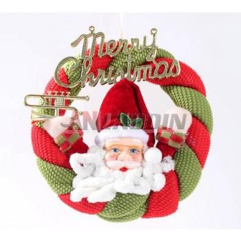 20cm Santa Claus + letters Christmas wreath
