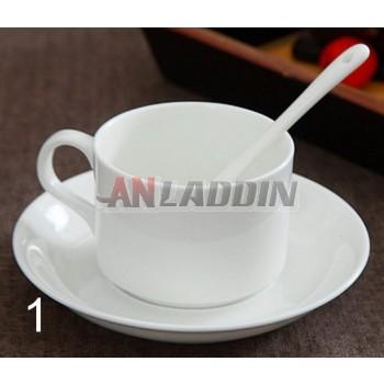 240ml white classic ceramic mug