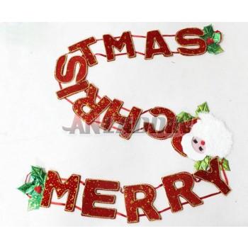 2.3M Merry Christmas letters pendant