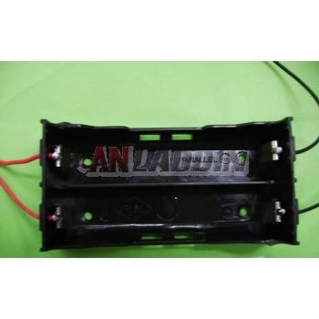 2pcs 18650 3.7V parallel Battery Case