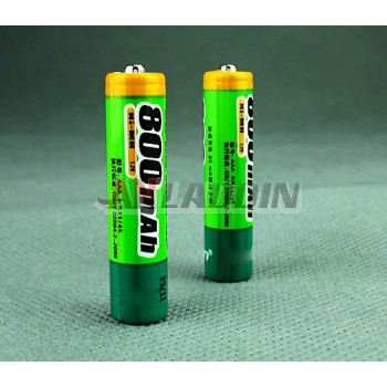 2pcs 800mAH AAA NiMH rechargeable batteries