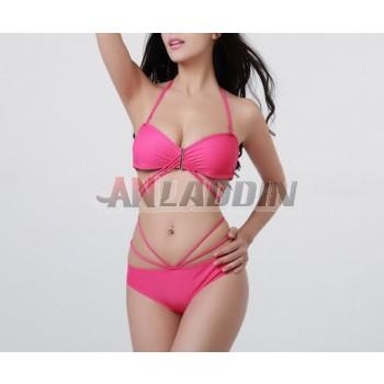 2pcs bikini swimsuit with chest pad