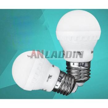 3-12W E27 matte shade ball light bulb