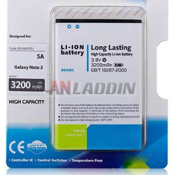 3200 mA Lithium Battery for Samsung Galaxy Note 3