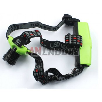 3800 mA rechargeable CREE Q5 Zoom LED Headlamp
