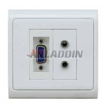 3.5MM * 2 + VGA Audio Video Wall Plate