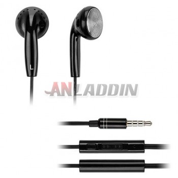 3.5mm earbud style Wire Control earphone with Mic