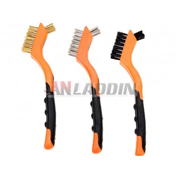 3 sets of 7-inch metal brush / small gap cleaning brush
