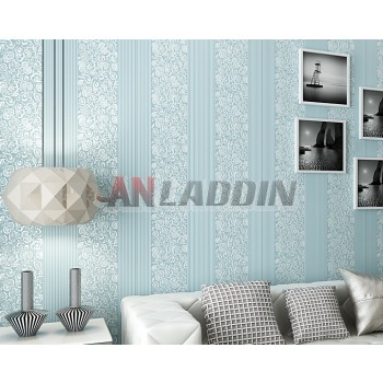 3D stripes European-style non-woven wall stickers