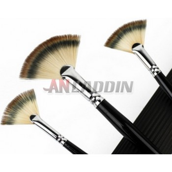 3pcs fan-shaped nylon paintbrush set