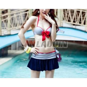 3pcs striped bikini swimsuit