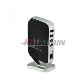 4-port USB network print server / multi-function sharing