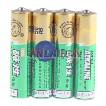 4pcs AAA 1.5V alkaline batteries without mercury