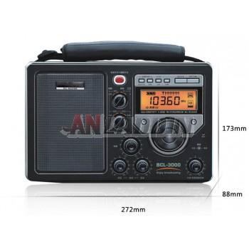BCL-3000 FM / MW / SW 5-band full band radio