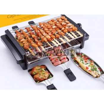 5-level temperature regulating smokeless multifunction electric barbecue device