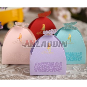 50pcs European style butterfly paper favor bag