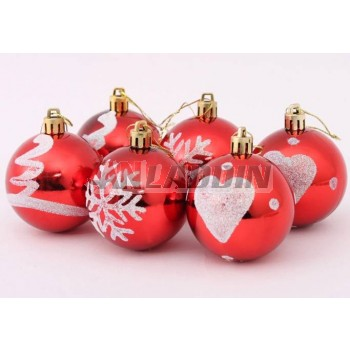 6cm Stained Plating Christmas Balls