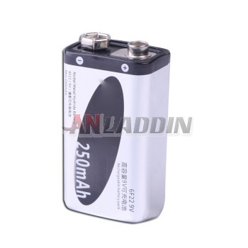 6F229V NiMH rechargeable battery 250mAh