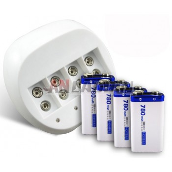 6F229v Rechargeable Battery kit / 4 channel charger