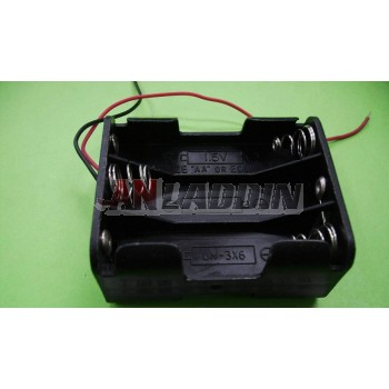 6pcs AA Battery Case with wires / 9V Battery Case