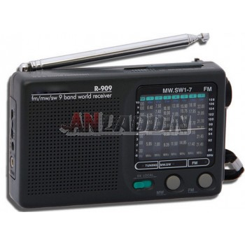 909 fm radio / full-band mini portable