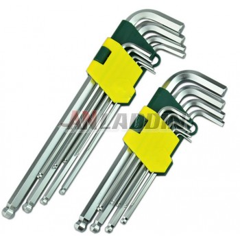 9 sets hex wrench