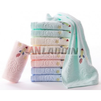 9pcs cartoon style children cotton towels