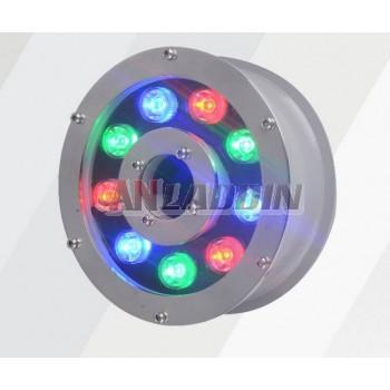 9W- 12W 12 ~ 24V stainless steel underwater LED spotlights