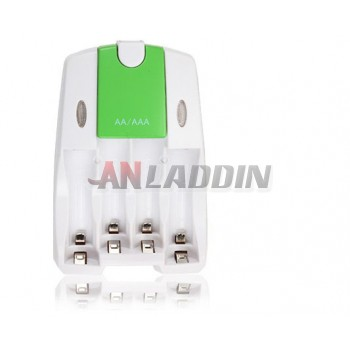 AA / AAA NiMH battery charger / 4 Channel Battery Charger