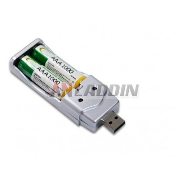 AAA Rechargeable Battery Set / usb charger