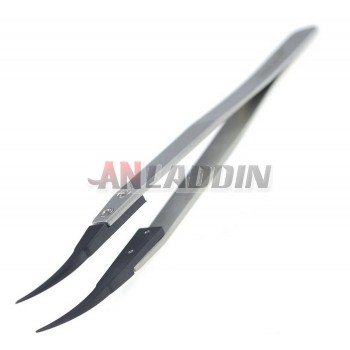 Anti-static bent nose tweezers