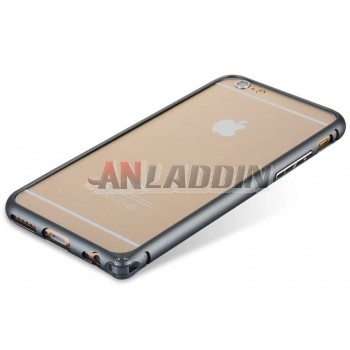 Arc design metal border protective cover for iphone 6