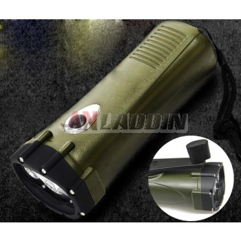 Army fans hand-crank flashlight