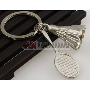 Badminton Alloy Keychain