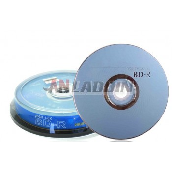 Blu-ray Recordable disk BD-R 6X 25GB blank Media 10 pack