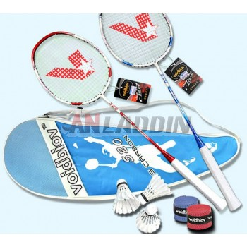 Carbon fiber badminton rackets