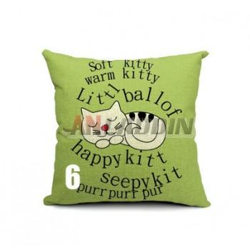 Cartoon linen pillow cover