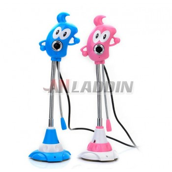 Cartoon Usb HD Webcam PC Camera with Microphone