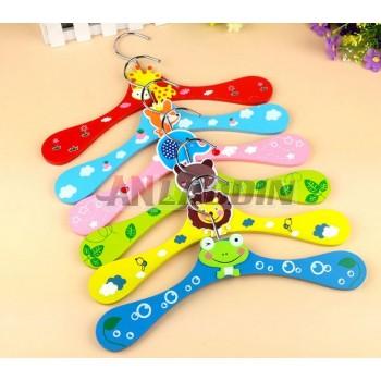 Cartoon wooden pet hanger
