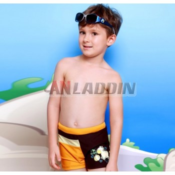 Cartoons little boy swim trunks