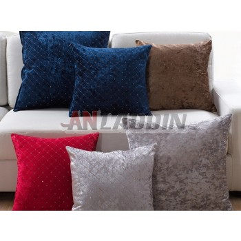 Case grain embroidered pillow